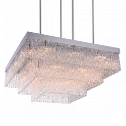 """36"""" 20 Light Down Chandelier with Chrome finish"""