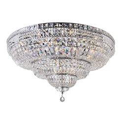 "36"" 21 Light Bowl Flush Mount with Chrome finish"