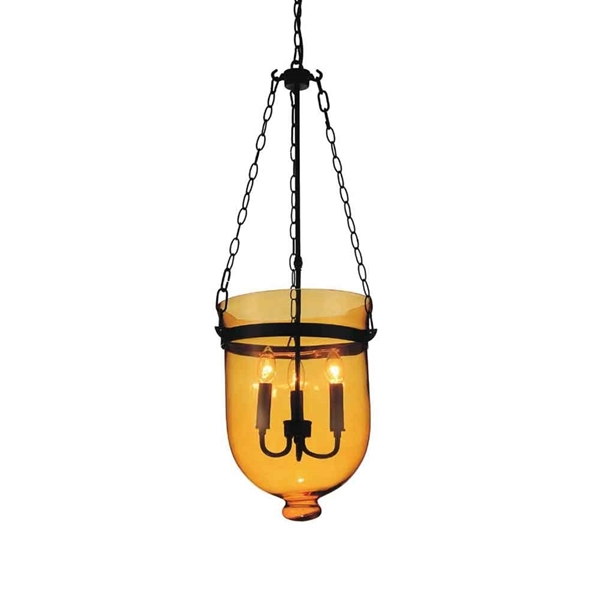 "Picture of 36"" 3 Light Up Mini Pendant with Black finish"