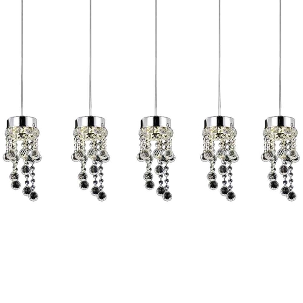 """Picture of 36"""" 5 Light Multi Light Pendant with Chrome finish"""