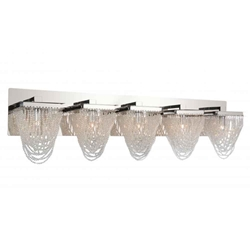 "36"" 5 Light Vanity Light with Chrome finish"