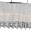 "Picture of 36"" 6 Light Drum Shade Chandelier with Chrome finish"