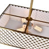 "Picture of 36"" 6 Light Drum Shade Chandelier with French Gold finish"