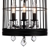 "Picture of 36"" 6 Light Up Chandelier with Black finish"