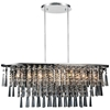 "Picture of 36"" 8 Light Down Chandelier with Chrome finish"
