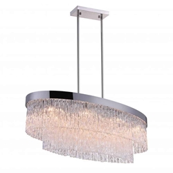 """36"""" 8 Light Island Chandelier with Chrome finish"""