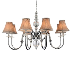 """36"""" 8 Light Up Chandelier with Chrome finish"""