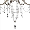 "Picture of 36"" 8 Light Up Chandelier with Speckled Nickel finish"