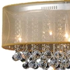 "Picture of 36"" 9 Light Drum Shade Chandelier with Chrome finish"