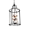 "Picture of 36"" Lantern Contemporary Rubbed Oil Bronze Three Tier Round Foyer Chandelier 12 Lights"