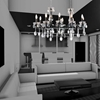 "Picture of 37"" 10 Light Up Chandelier with Black finish"