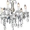 "Picture of 37"" 10 Light Up Chandelier with Pearl White finish"