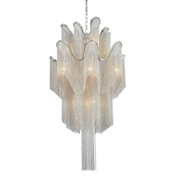 """37"""" 16 Light Down Chandelier with Chrome finish"""
