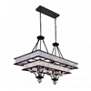 "Picture of 37"" 16 Light Island Chandelier with Black finish"