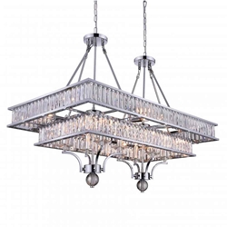 """37"""" 16 Light Island Chandelier with Chrome finish"""