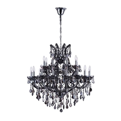 "37"" 25 Light Up Chandelier with Chrome finish"