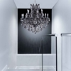 "Picture of 37"" 25 Light Up Chandelier with Chrome finish"
