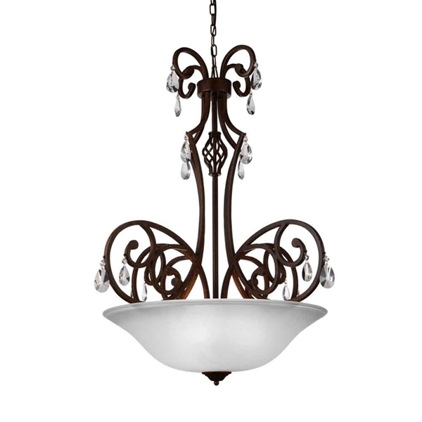 "Picture of 37"" 5 Light Candle Chandelier with Dark Bronze finish"