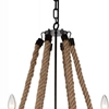 "Picture of 37"" 6 Light Up Chandelier with Rust finish"