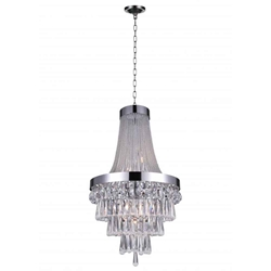 """37"""" 7 Light  Chandelier with Chrome finish"""