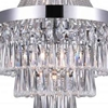 "Picture of 37"" 7 Light  Chandelier with Chrome finish"