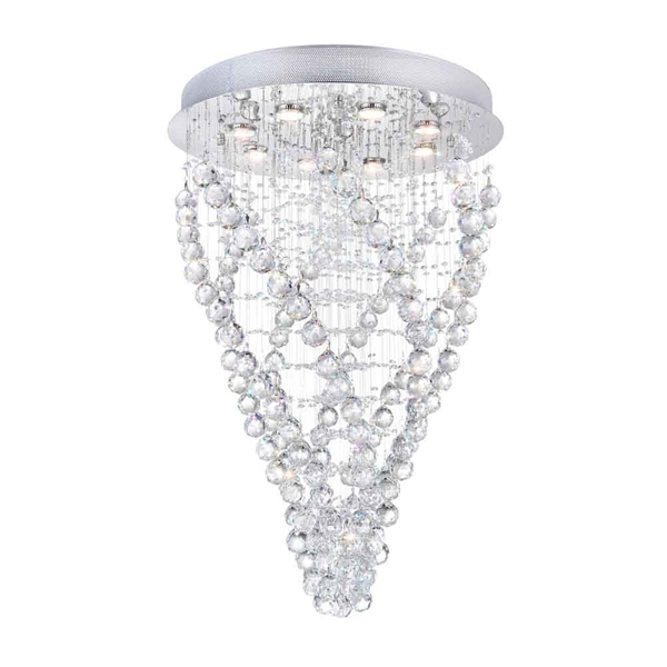 """Picture of 37"""" 8 Light  Flush Mount with Chrome finish"""