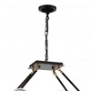 """Picture of 37"""" 8 Light Up Chandelier with Brown finish"""