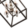 "Picture of 37"" 8 Light Up Mini Chandelier with Luxor Silver finish"