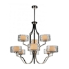 "Picture of 37"" 9 Light Drum Shade Chandelier with Chrome finish"