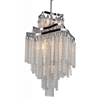"Picture of 38"" 10 Light Down Chandelier with Chrome finish"