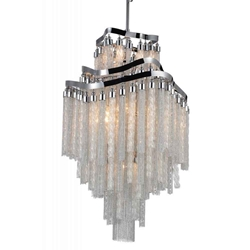 """38"""" 10 Light Down Chandelier with Chrome finish"""