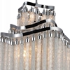 """Picture of 38"""" 10 Light Down Chandelier with Chrome finish"""