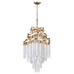 """38"""" 10 Light Down Chandelier with Gold finish"""