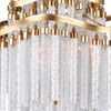 "Picture of 38"" 10 Light Down Chandelier with Gold finish"