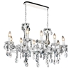"Picture of 38"" 10 Light Up Chandelier with Chrome finish"