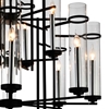 """Picture of 38"""" 12 Light Up Chandelier with Black finish"""