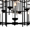 "Picture of 38"" 12 Light Up Chandelier with Black finish"