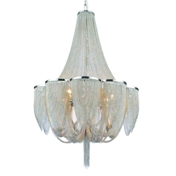 """38"""" 18 Light Down Chandelier with Chrome finish"""