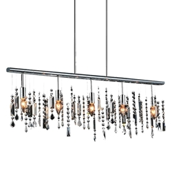 "38"" 5 Light Down Chandelier with Chrome finish"