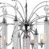 "Picture of 38"" 7 Light Down Chandelier with Chrome finish"