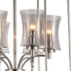 "Picture of 38"" 6 Light Up Chandelier with Chrome finish"
