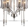 "Picture of 38"" 6 Light Up Chandelier with Satin Nickel finish"
