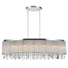 "Picture of 38"" 7 Light Drum Shade Chandelier with Chrome finish"
