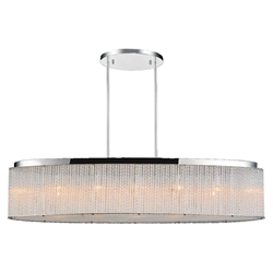 """38"""" 7 Light Drum Shade Chandelier with Chrome finish"""