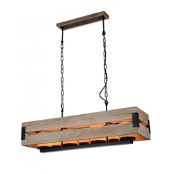 """38"""" 7 Light Up Chandelier with Black finish"""