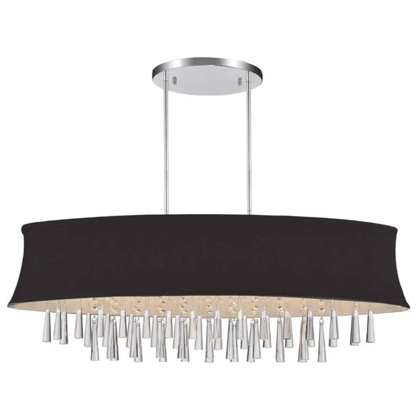 "Picture of 38"" 8 Light Drum Shade Chandelier with Chrome finish"