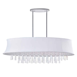 """38"""" 8 Light Drum Shade Chandelier with Chrome finish"""