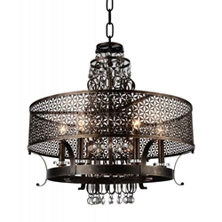 "38"" 8 Light Up Chandelier with Golden Bronze finish"