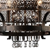 "Picture of 38"" 8 Light Up Chandelier with Golden Bronze finish"
