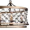"Picture of 38"" 8 Light Up Chandelier with Speckled Bronze finish"